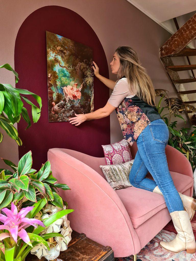 Sfeer met wanddecoratie