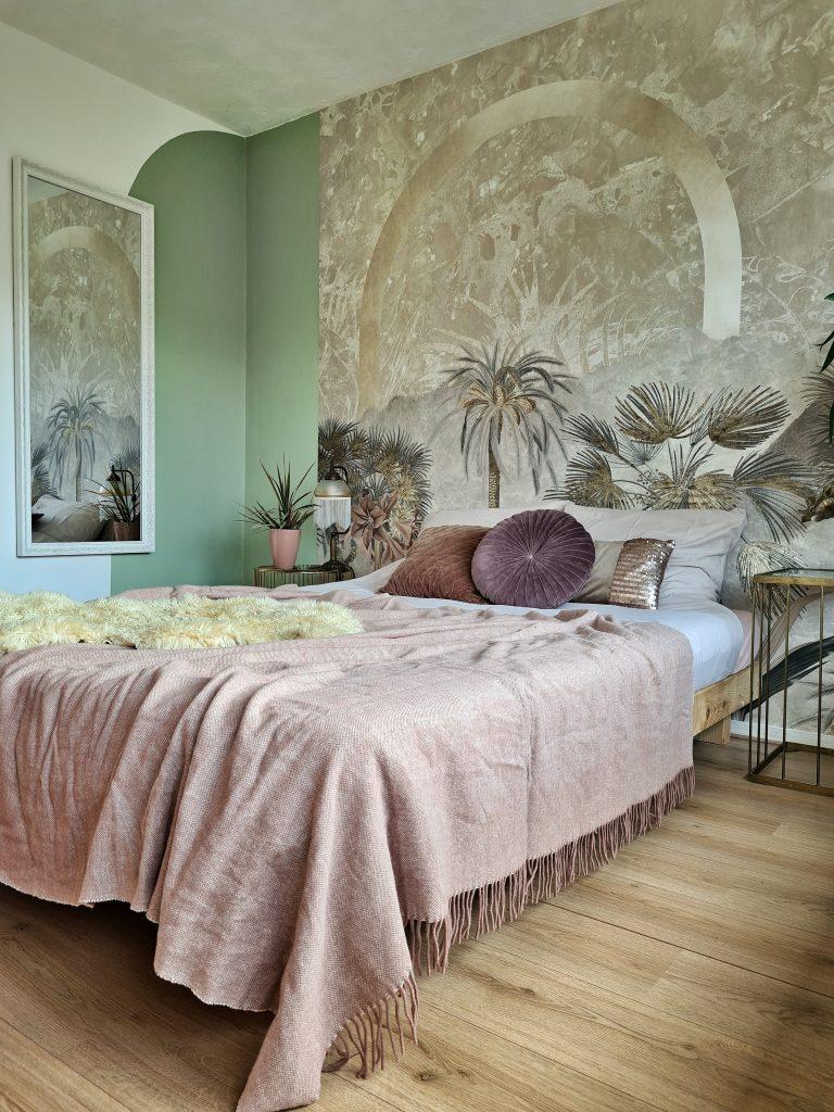 boho chic interieur voor de slaapkamer